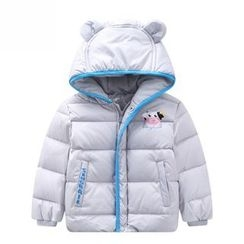 Endymion - Kids Cow Print Hooded Down Coat