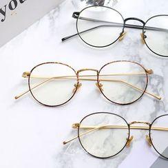 羅煞秀 - 金屬鏡框圓形眼鏡