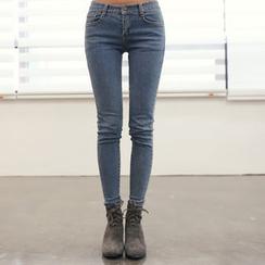 DANI LOVE - Washed Skinny Jeans