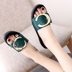 IYATO - Buckled Platform Mule Sandals