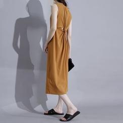 Sonne - Knotted-Back Sleeveless Midi Dress