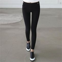 CHICFOX - Band-Waist Skinny Pants