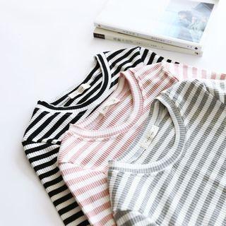 Bonbon - Striped Long-Sleeve T-Shirt