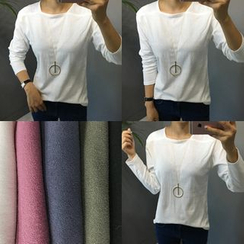 STYLEBYYAM - Colored Squared-Neck T-Shirt