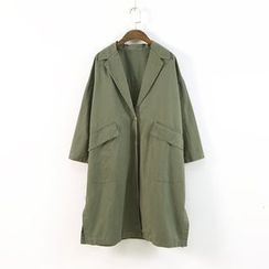 Ranche - Single Button Notch Lapel Trench Coat