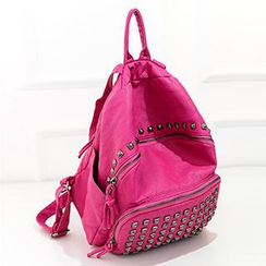 Youme - Faux-Leather Studded Backpack