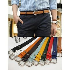 STYLEMAN - Faux-Leather Colored Belt