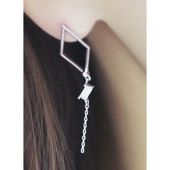 kitsch island - Chain Drop Earrings