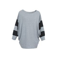 Flore - Striped-Sleeve Pullover