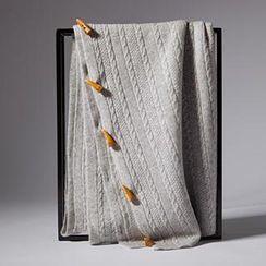羚羊早安 - 羊絨牛角扣超長圍巾