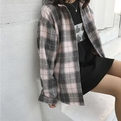 Jolly Club - Long-Sleeve Plaid Shirt
