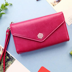 iswas - Faux-Leather Mobile Pouch Wristlet
