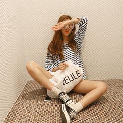 NANING9 - Cotton Blend Stripe T-Shirt