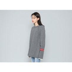 Envy Look - Contrast Wool Blend Sweater