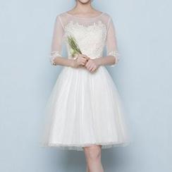 名贵风格 - 蕾丝边礼服裙