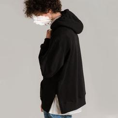 Newin - Oversized Zipper-Side Hooded Pullover