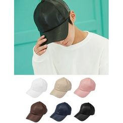 STYLEMAN - Faux-Leather Baseball Cap