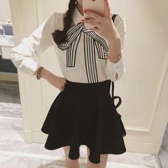 Bornite - 蝴蝶结长袖衬衫
