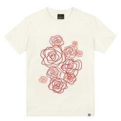 the shirts - Rose Print T-Shirt