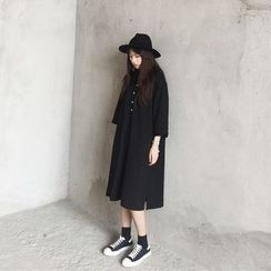 bombee - 七分袖馬球連衣裙