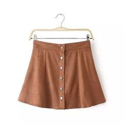 Chicsense - Suede A-Line Skirt