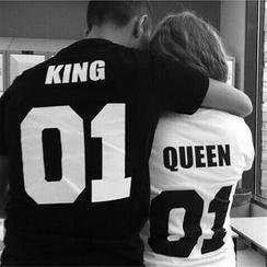 Dream a Dream - Print Couple Matching Short-Sleeve T-Shirt