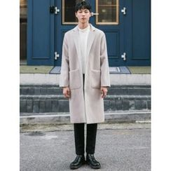 STYLEMAN - Wool Blend Single-Breasted Coat