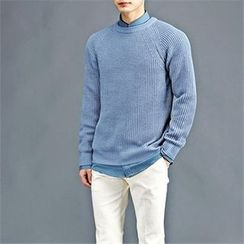 THE COVER - Colored Raglan-Sleeve Knit Top