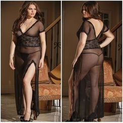 Dear Lover - Set: Lace Nightdress + Thong