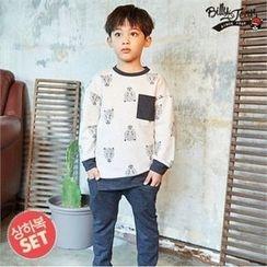 BILLY JEAN - Kids Set: Printed Pullover + Harem Pants