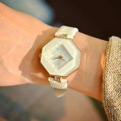 Crocosmia - Polygon Dial Strap Watch