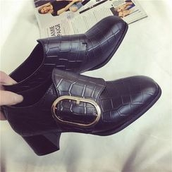 Chryse - 粗跟飾扣鞋