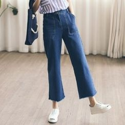 Everies - Cropped Wide Leg Jeans