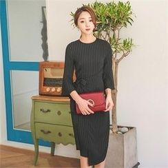 ode' - Bell-Sleeve Stripe Dress