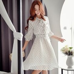 Dabuwawa - 3/4-Sleeve Printed Dress