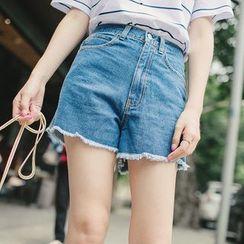 微米家 - 高腰牛仔短褲