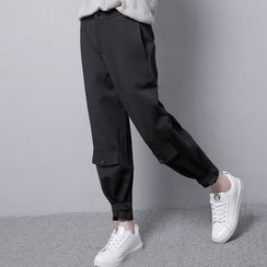 Sonne - Convertible Button-Hem High-Waist Cropped Pants