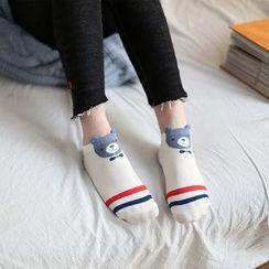 Socka - Ears-Accent Bear-Print Socks
