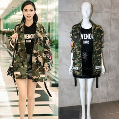 CACHA - Camouflage Parka / Skirt / Printed T-Shirt