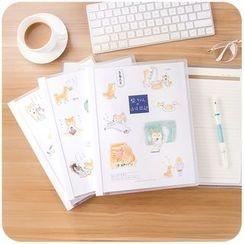 Momoi - Dog Print Loose Leaf Notebook (M)