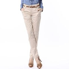 O.SA - Lace-Paneled Skinny Pants