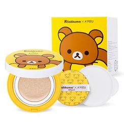 A'PIEU - Air-Fit Cushion XP Set (Rilakkuma Edition) SPF50+ PA+++ (#23): Cushion + Cushion Refill Only + Air In Puff 1pc