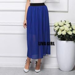 LIVA GIRL - Chiffon Long Skirt