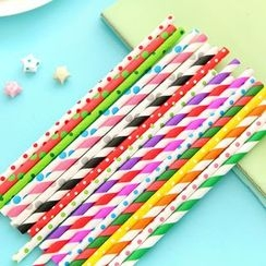 Palmy Parties - Set of 25: Printed Drinking Straw