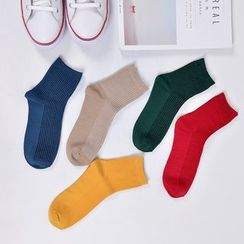Aeoo - Plain Socks 5Pairs