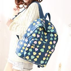 Canvas Love - Heart Canvas Backpack