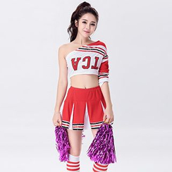 Cosgirl - One-shoulder Cheerleader Party Costume