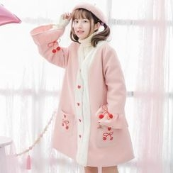 Moriville - Cherry Embroidered Coat