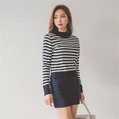 ERANZI - Brushed-Fleece Lined Mini Pencil Skirt