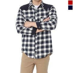 Seoul Homme - Dual-Pocket Check Shirt